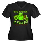 IT HAULS! Women's Plus Size V-Neck Dark T-Shirt