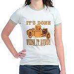 DONE WHEN IT RUNS Jr. Ringer T-Shirt