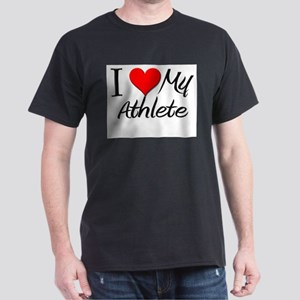 I Heart My Athlete Dark T-Shirt
