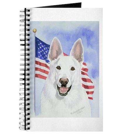 Patriotic White German Shepherd Journal