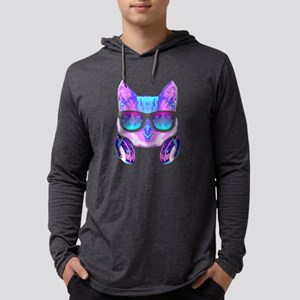 DJ Music Funny Cat Long Sleeve T-Shirt