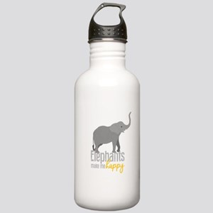 Elephants Make Me Happ Stainless Water Bottle 1.0L