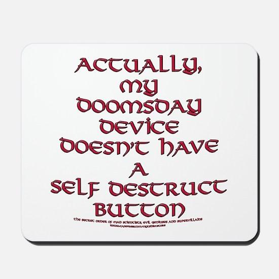 Funny Self Destruct Button Joke Mousepad