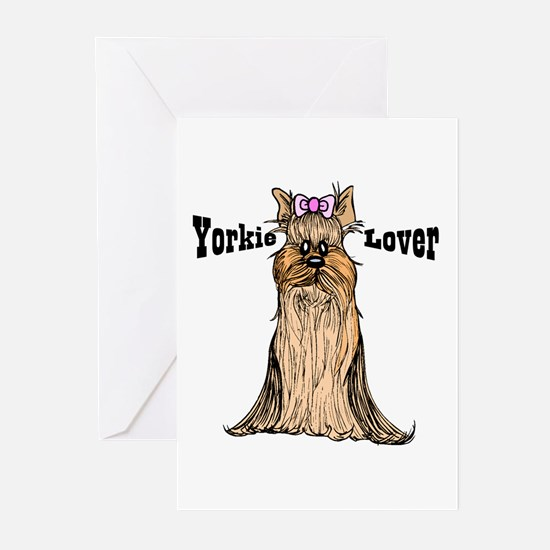 Yorkie Lover Greeting Cards (Pk of 10)