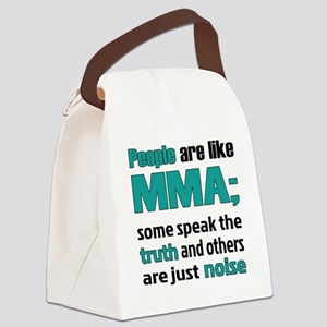 People are like MMA Canvas Lunch Bag