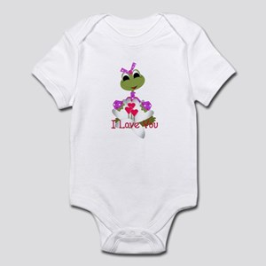 I Love You - Cute Frog Infant Bodysuit