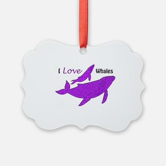 Cute I love killer whales Ornament