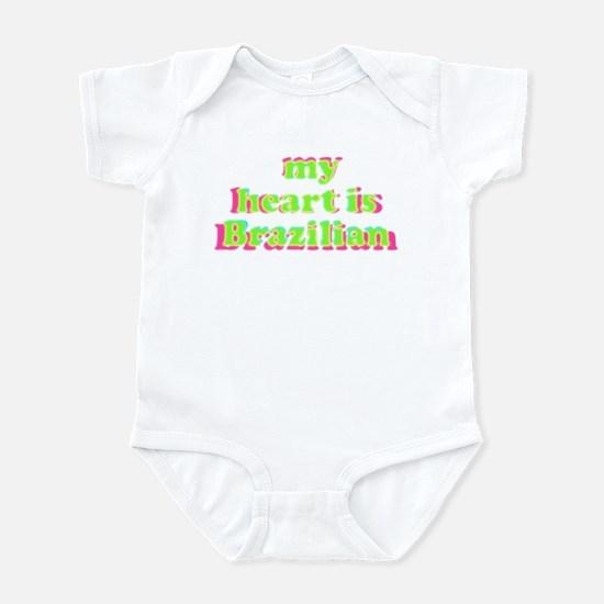 My Heart is Brazilian Infant Bodysuit