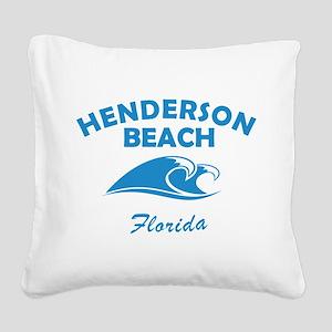 Henderson Beach Florida Square Canvas Pillow