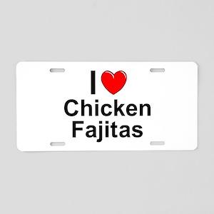 Chicken Fajitas Aluminum License Plate