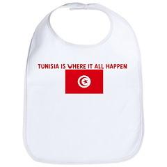 TUNISIA IS WHERE IT ALL HAPPE Bib