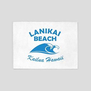 Lanikai Beach 5'x7'Area Rug