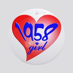 1958 Girl, 50th Ornament (Round)