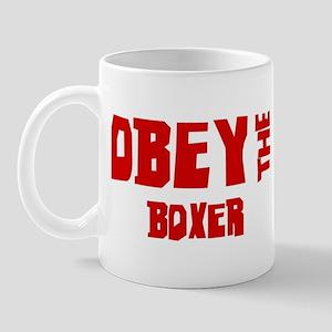 Obey the Boxer Mug