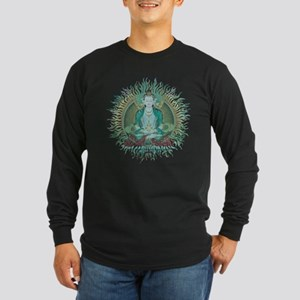 Amithaba Buddha Long Sleeve Dark T-Shirt