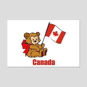 Canada Teddy Bear Mini Poster Print