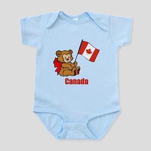Canada Teddy Bear Infant Bodysuit