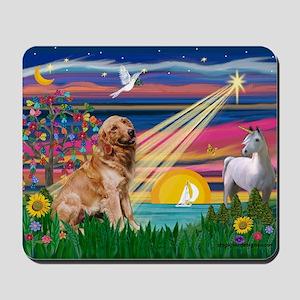Magical Night Golden Mousepad