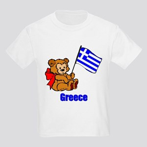 Greece Teddy Bear Kids Light T-Shirt