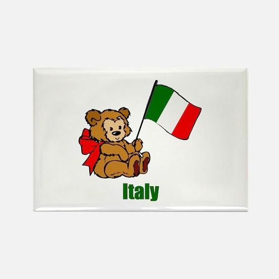 Italy Teddy Bear Rectangle Magnet