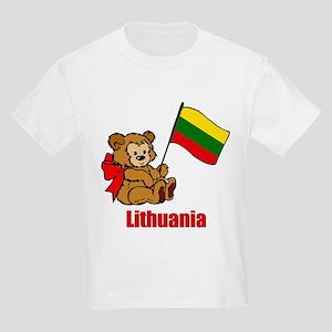 Lithuania Teddy Bear Kids Light T-Shirt