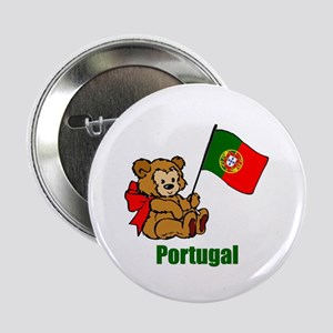 "Portugal Teddy Bear 2.25"" Button (10 pack)"