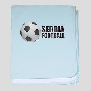 Serbia Football baby blanket