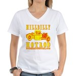 HILLBILLY HOTROD Y Women's V-Neck T-Shirt