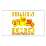 HILLBILLY HOTROD Y Rectangle Sticker