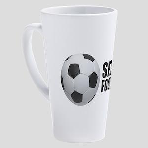 Serbia Football 17 oz Latte Mug