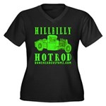 HillBillyHotRod GRN Women's Plus Size V-Neck Dark