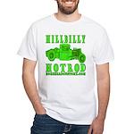 HillBillyHotRod GRN White T-Shirt
