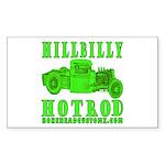 HillBillyHotRod GRN Rectangle Sticker