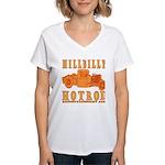 HillBilly HotRod Women's V-Neck T-Shirt