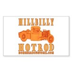 HillBilly HotRod Rectangle Sticker