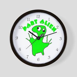 Part Alien Wall Clock