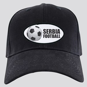 Serbia Football Black Cap with Patch
