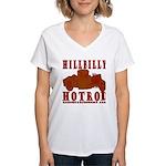 HILLBILLY RED Women's V-Neck T-Shirt