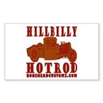 HILLBILLY RED Rectangle Sticker