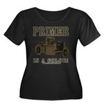 PRIMER Women's Plus Size Scoop Neck Dark T-Shirt
