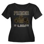 PRIMER Women's Plus Size Scoop Neck Dark T-Shirt