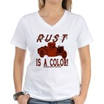 RUST IS A COLOR Women's V-Neck T-Shirt