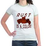 RUST IS A COLOR Jr. Ringer T-Shirt