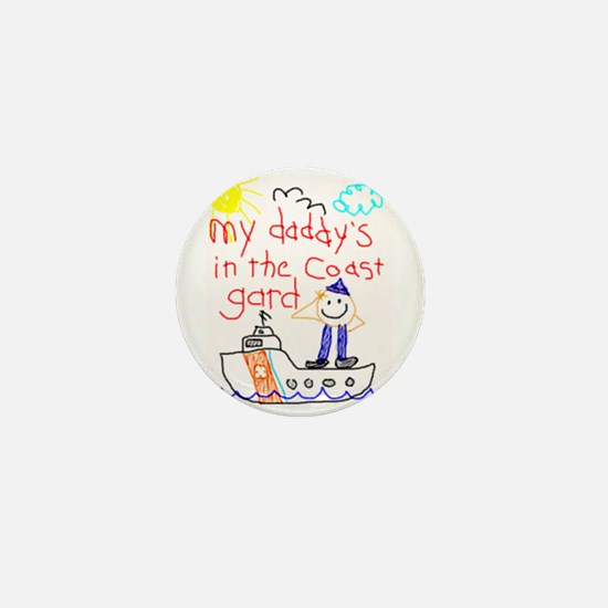 Coast Guard Daddy Mini Button