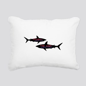 Tikehau French Polynesia Rectangular Canvas Pillow