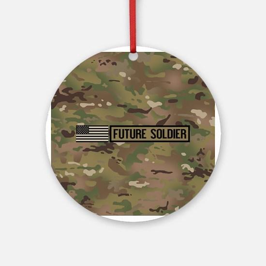 U.S. Army: Future Soldier (Camo) Round Ornament