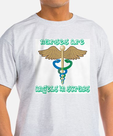 Nurses Are Angels in Scrubs T-Shirt