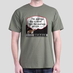 Beagle-Average Person - Dark T-Shirt