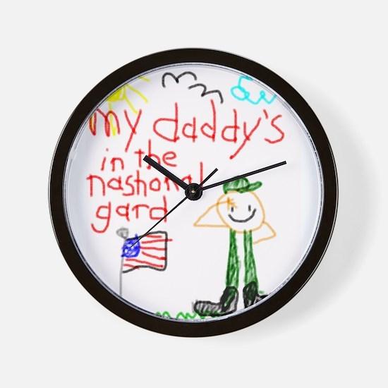 """National Guard Daddy"" Series Wall Clock"