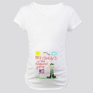 """""""National Guard Daddy"""" Series Maternity T-Shirt"""